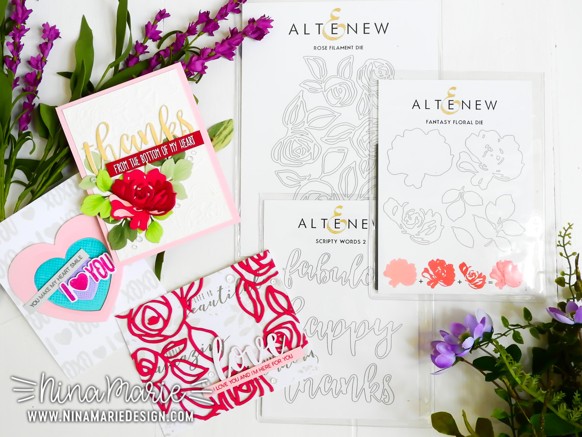 Layering Die Cuts + Altenew Blog Hop | Nina-Marie Design