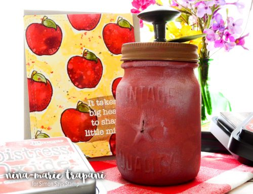 Studio Monday with Nina-Marie: Teacher Apple Jar Gift + Card