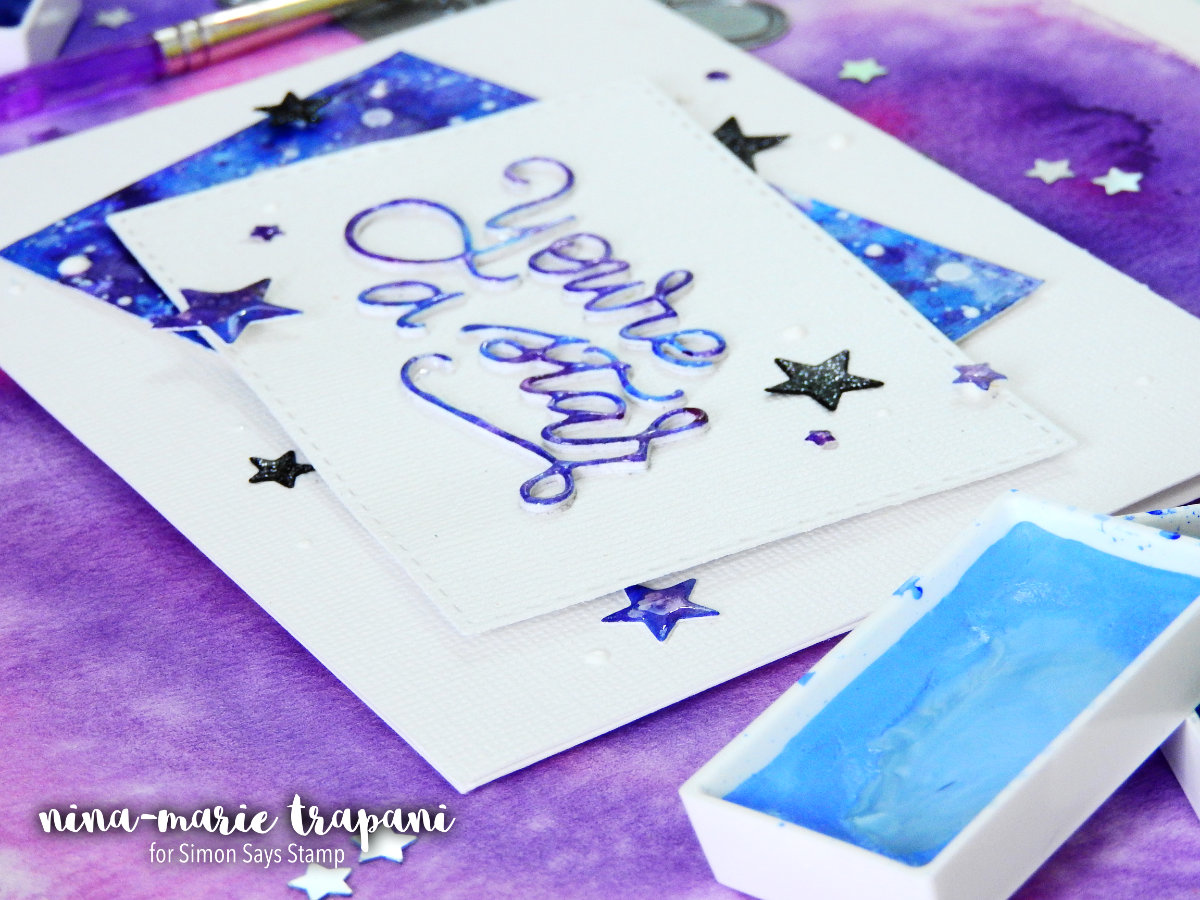 Watercolor Palette Smooshing + Galaxy Background + Simon Hop | Nina-Marie Design