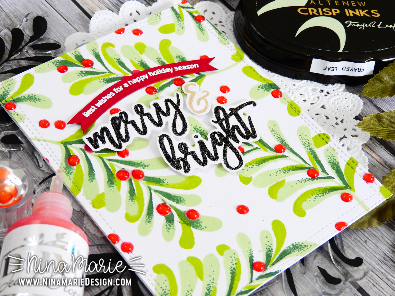 Pattern Stamping 4 Ways + Altenew Hop | Nina-Marie Design