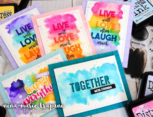 Distress Ink Watercolor Stamping + Simon's Concord & 9th STAMPtember Exclusive