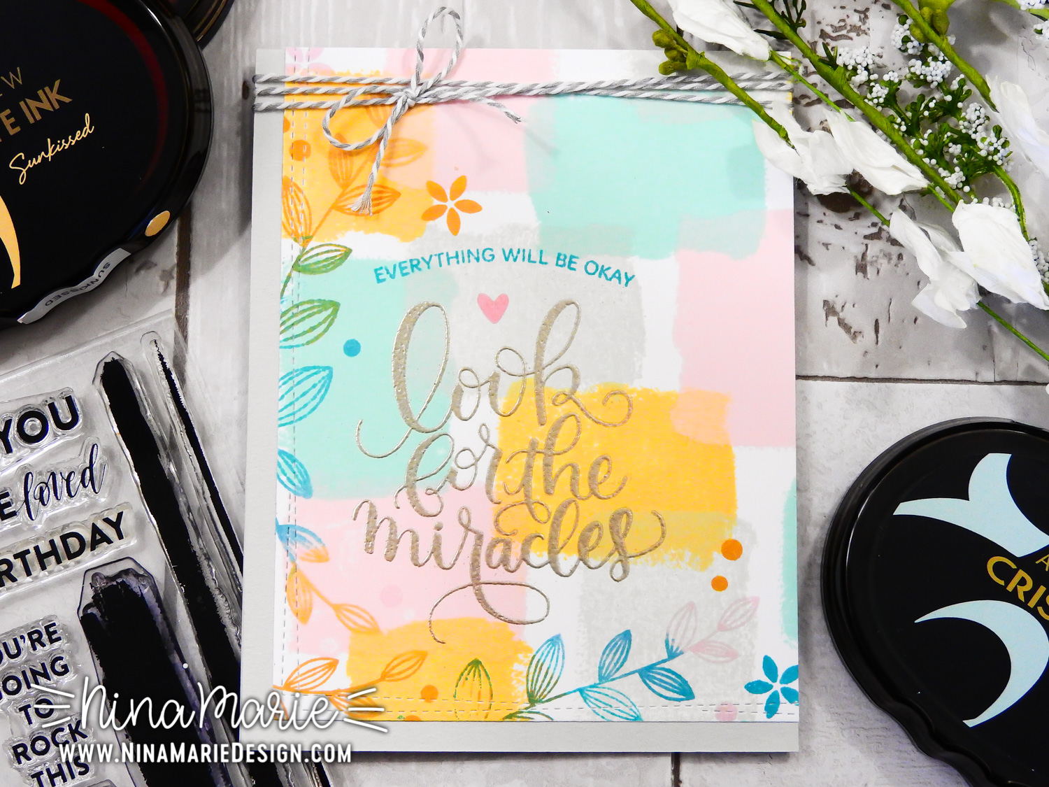 Brushstroke Pattern Stamping Featuring Simon Says Stamp Products | Nina-Marie Design
