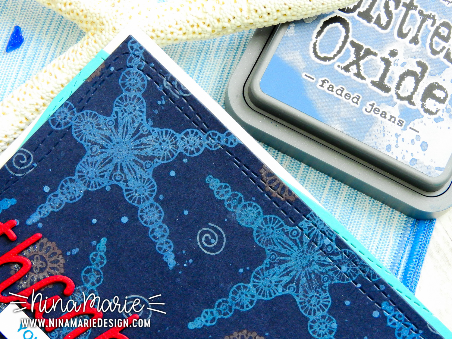 Distress Oxide Inks on Dark Cardstocks + Simon's STAMPtember Release | Nina-Marie Design