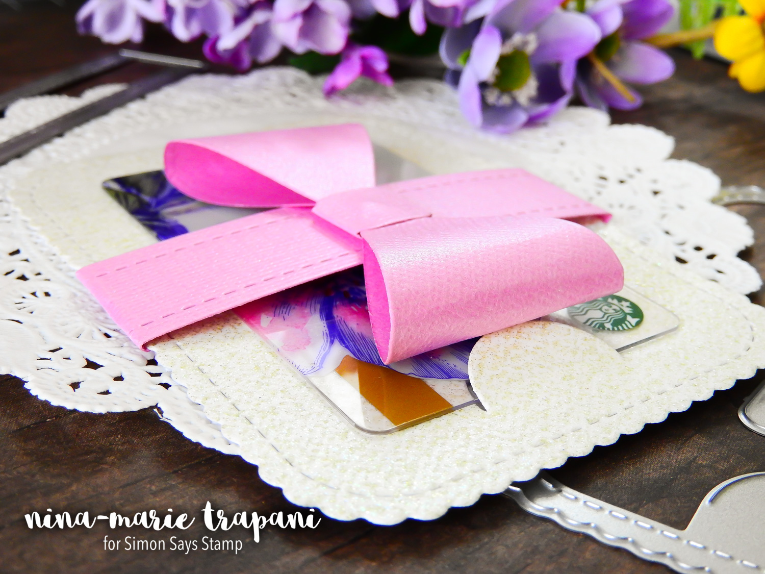 How to Use the Prettied Up Gift Card Dies from Simon Says Stamp | Nina-Marie Design