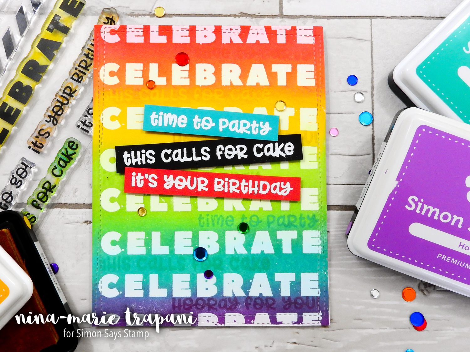 Emboss Resist with Aqua Flow Pens + Simon's November CZ Design Release | Nina-Marie Design