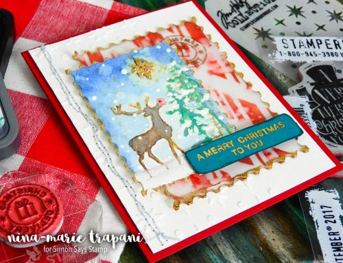 Distress Winter Scene + Simon's Tim Holtz STAMPtember Exclusive!