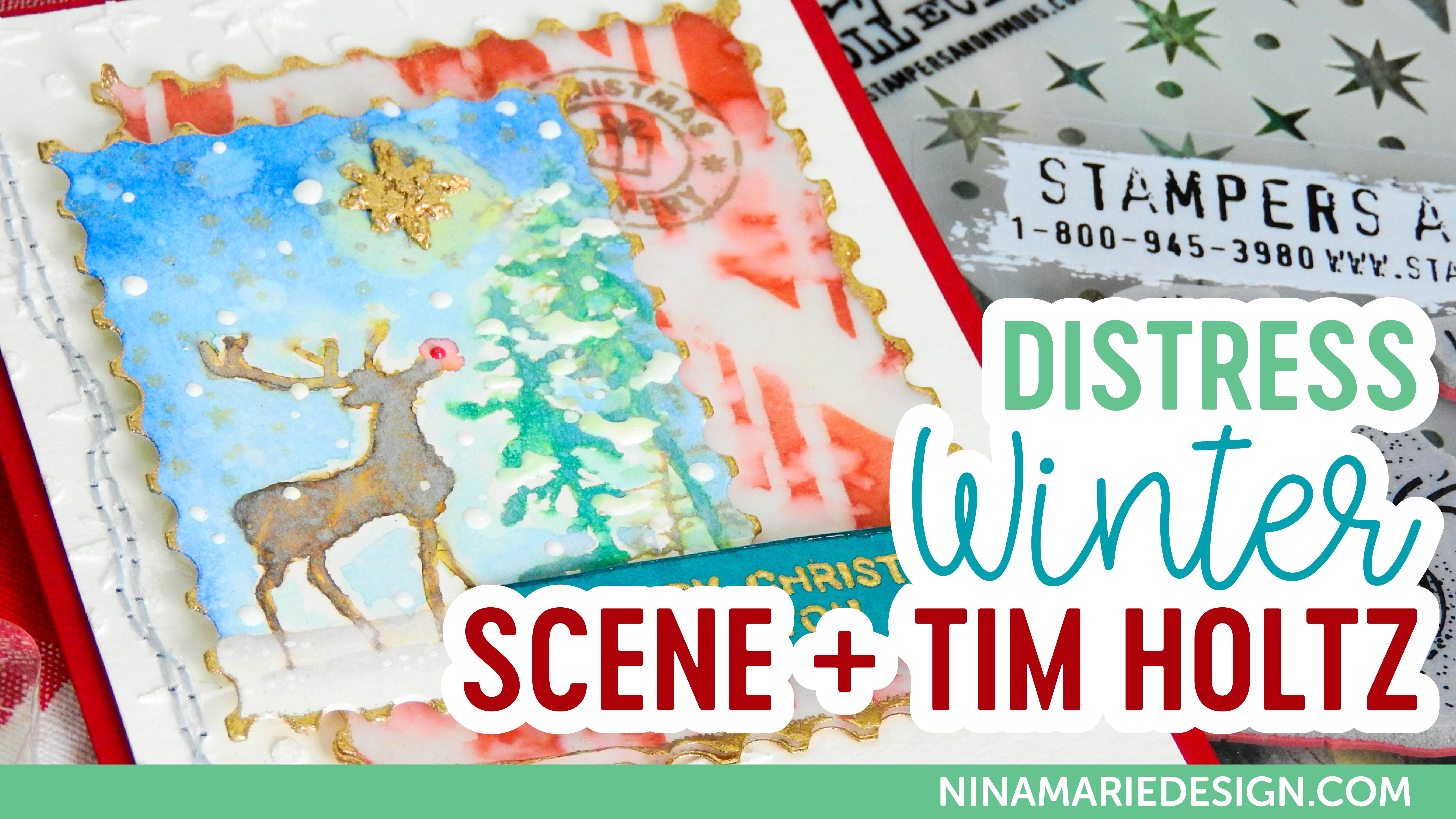 Distress Winter Scene + Simon's Tim Holtz STAMPtember Exclusive | Nina-Marie Design