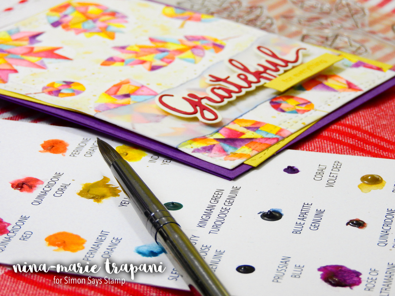 No Line Watercolor Leaves + Simon's STAMPtember Release Blog Hop | Nina-Marie Design