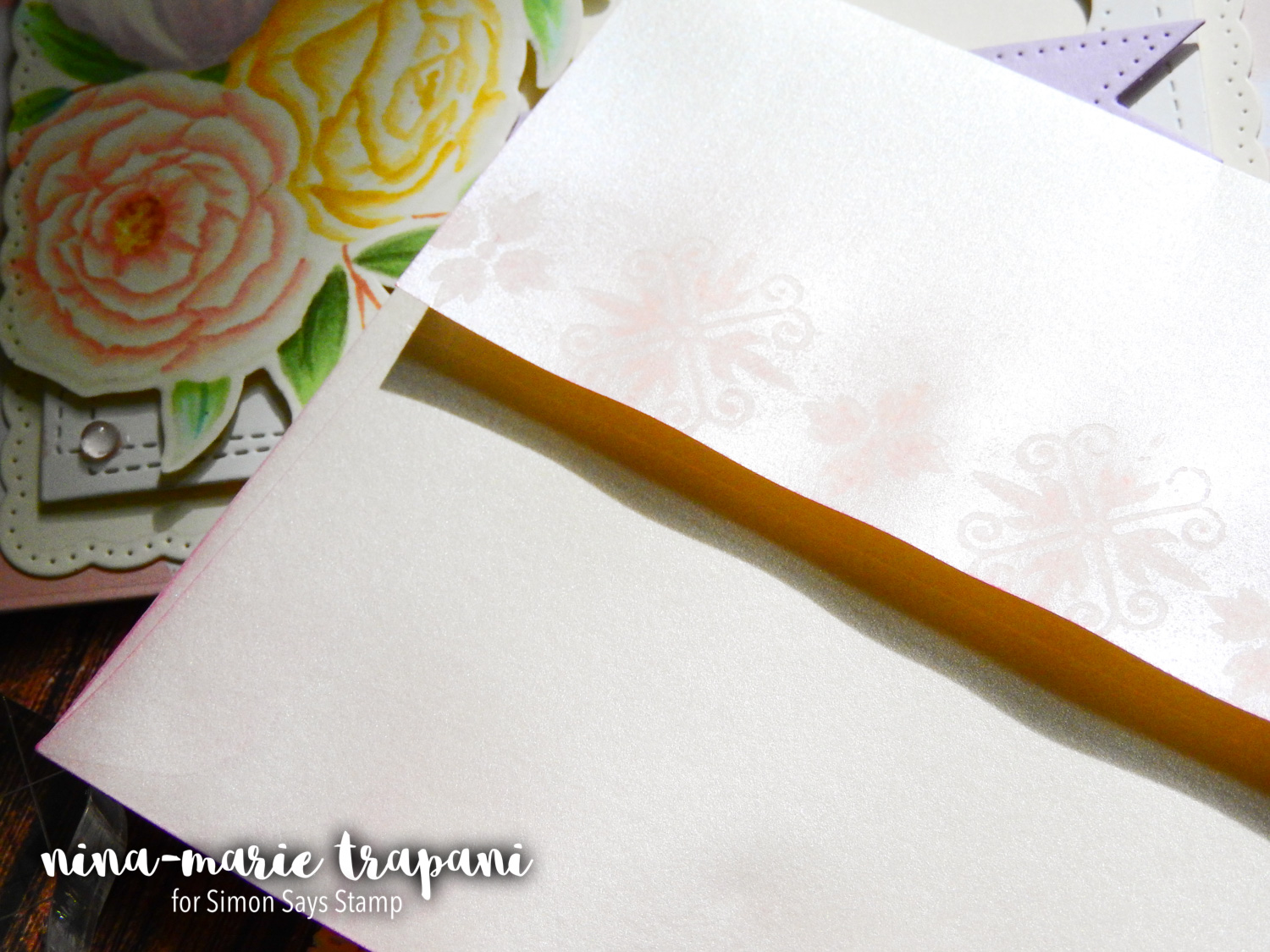 No Line Colored Florals with Copics + Simon's Studio Katia and Pretty Pink Posh STAMPtember Exclusives | Nina-Marie Design