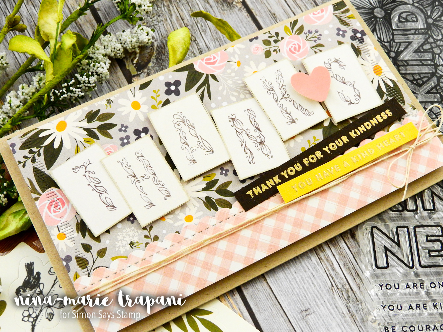 2 Ways to Use the Kind Flowers Card Kit from Simon Says Stamp | Nina-Marie Design