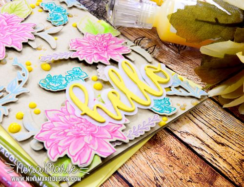Colored Pencil on Kraft + Dimensional Die Cuts + Altenew Crafty Friends Hop