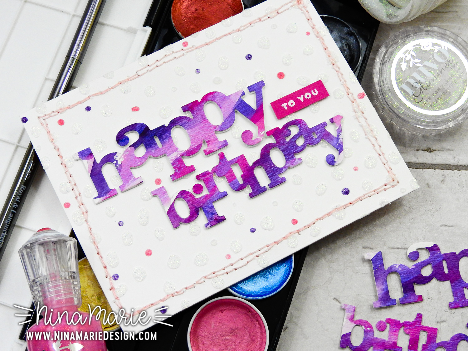Glimmer Paste + Shimmer Paint + Stitching + Hop | Nina-Marie Design