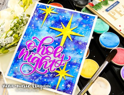 In Lay Watercolor Die Cutting  + Simon's Making Spirits Bright Blog Hop