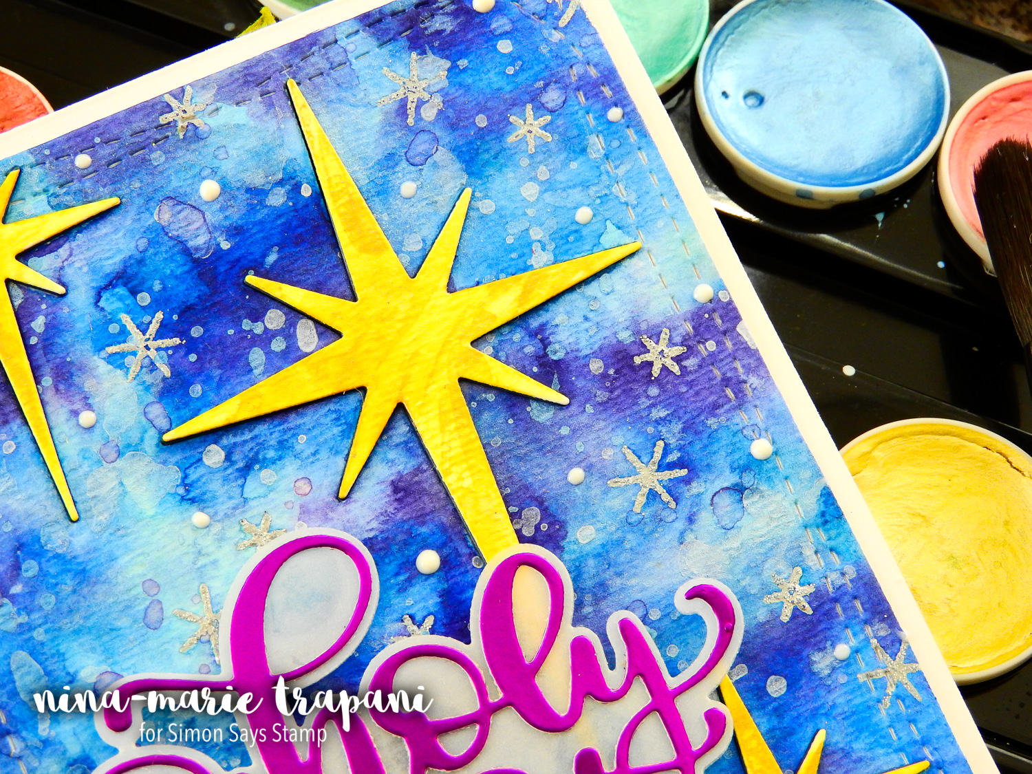 In Lay Watercolor Die Cutting + Simon Hop | Nina-Marie Design