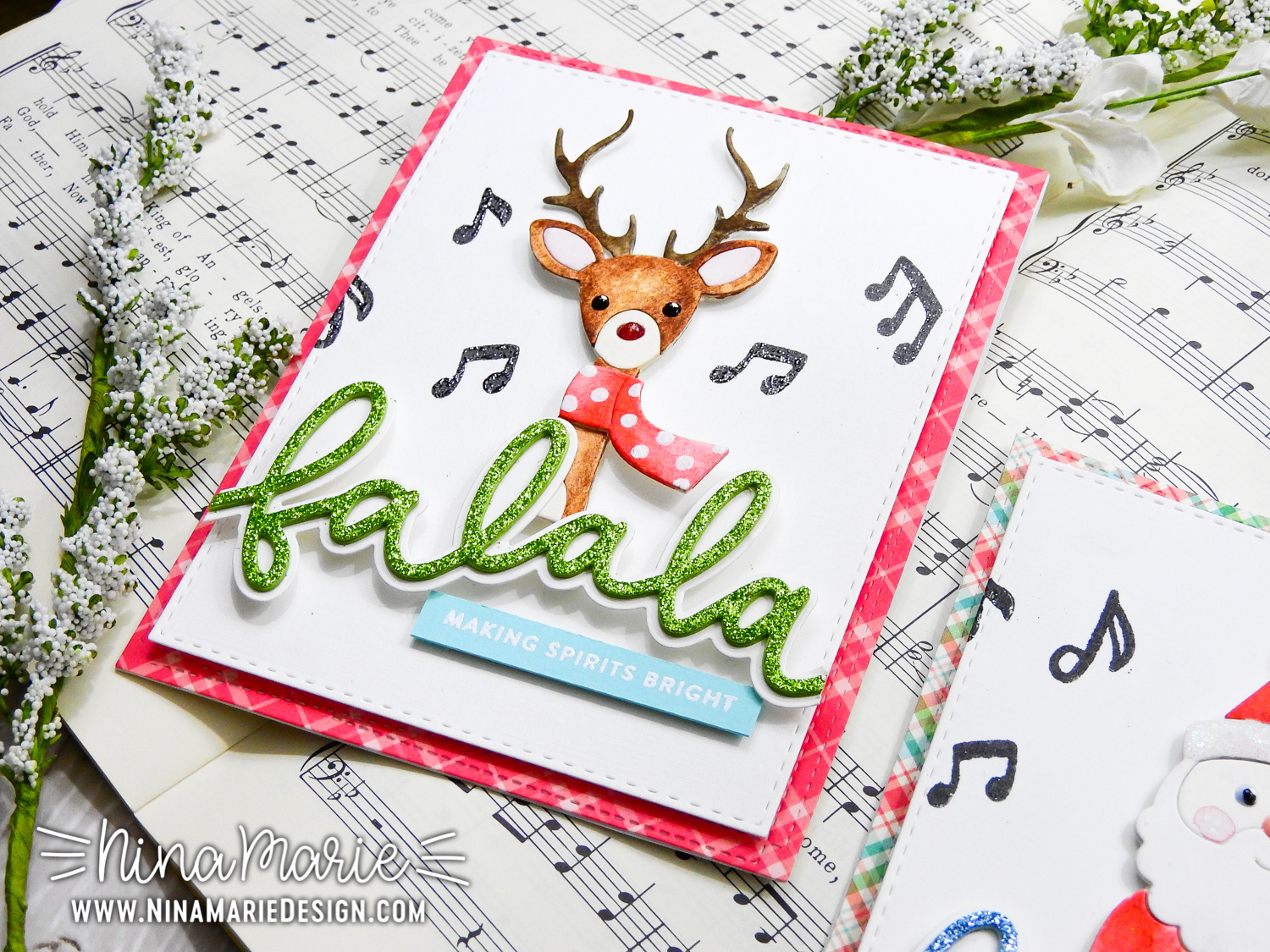 Watercolor Die Cutting + Simon's Picture Book Dies + Justine's 12 Days of Christmas Video Hop | Nina-Marie Design