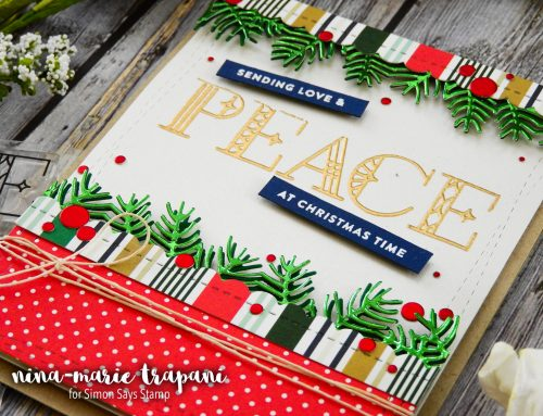 Layered Die Cutting with Borders + Simon's Making Spirits Bright Release