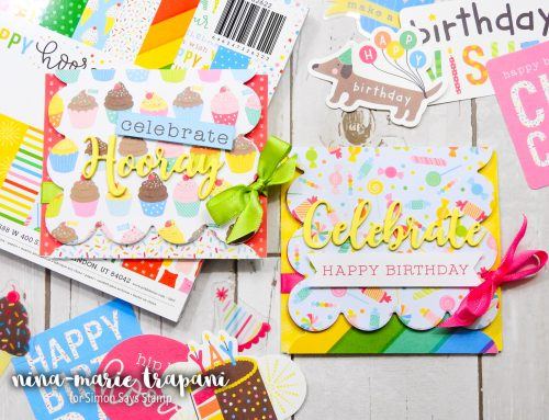 Studio Monday with Nina-Marie: Trifold Cards Featuring Pebbles Happy Hooray Collection