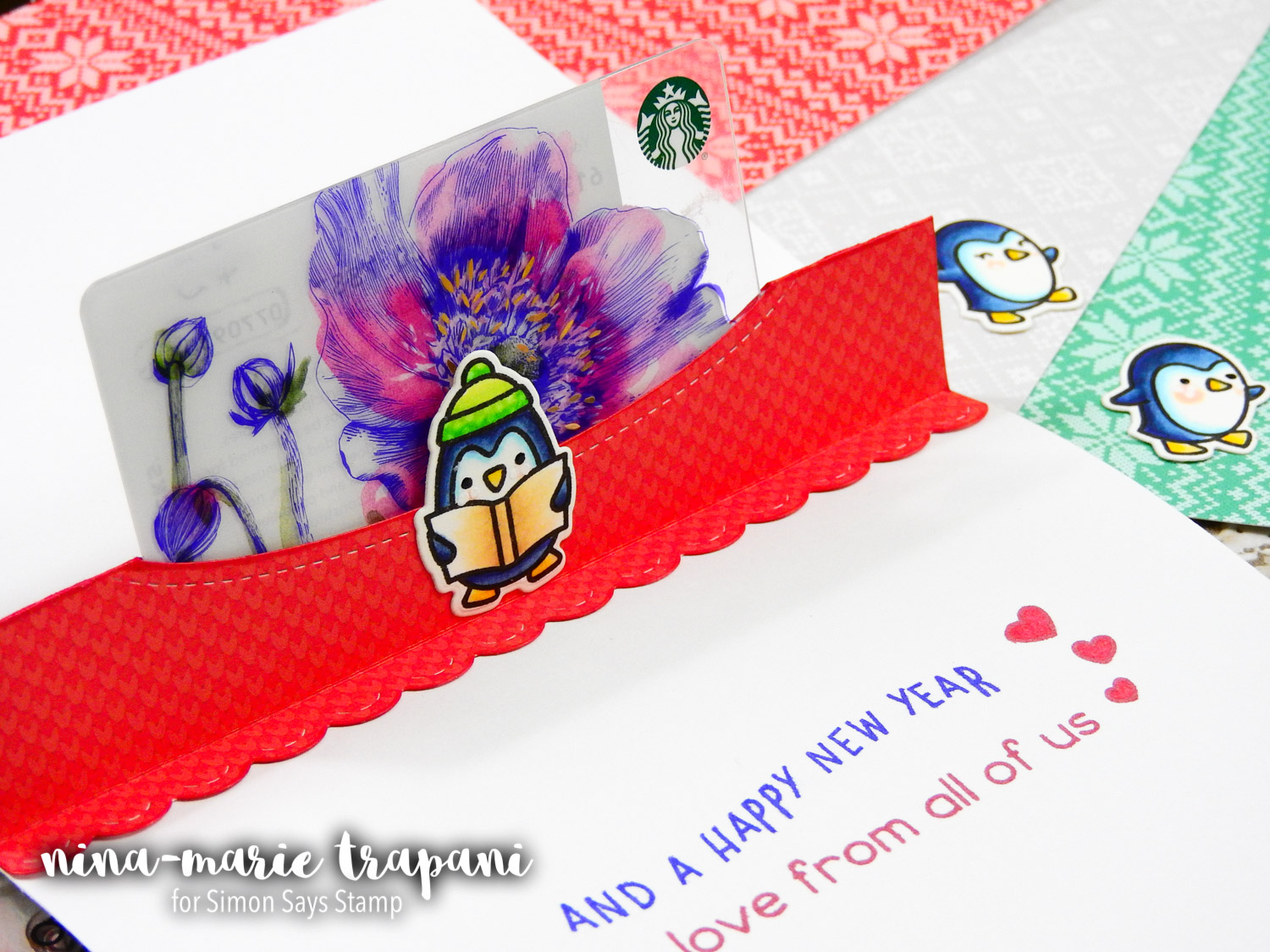 Studio Monday with Nina-Marie: Lawn Fawn Pop Up Holiday Gift Card   Nina-Marie Design