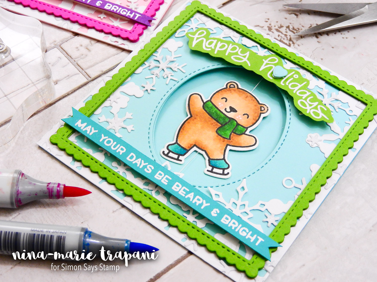 Lawn Fawn Spinner Card | Nina-Marie Design