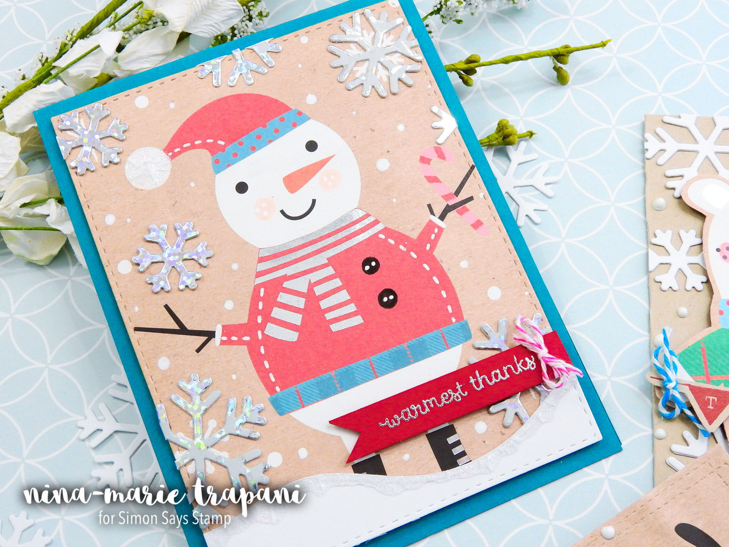 Studio Monday with Nina-Marie: Re-using Gift Wrap for Cards!