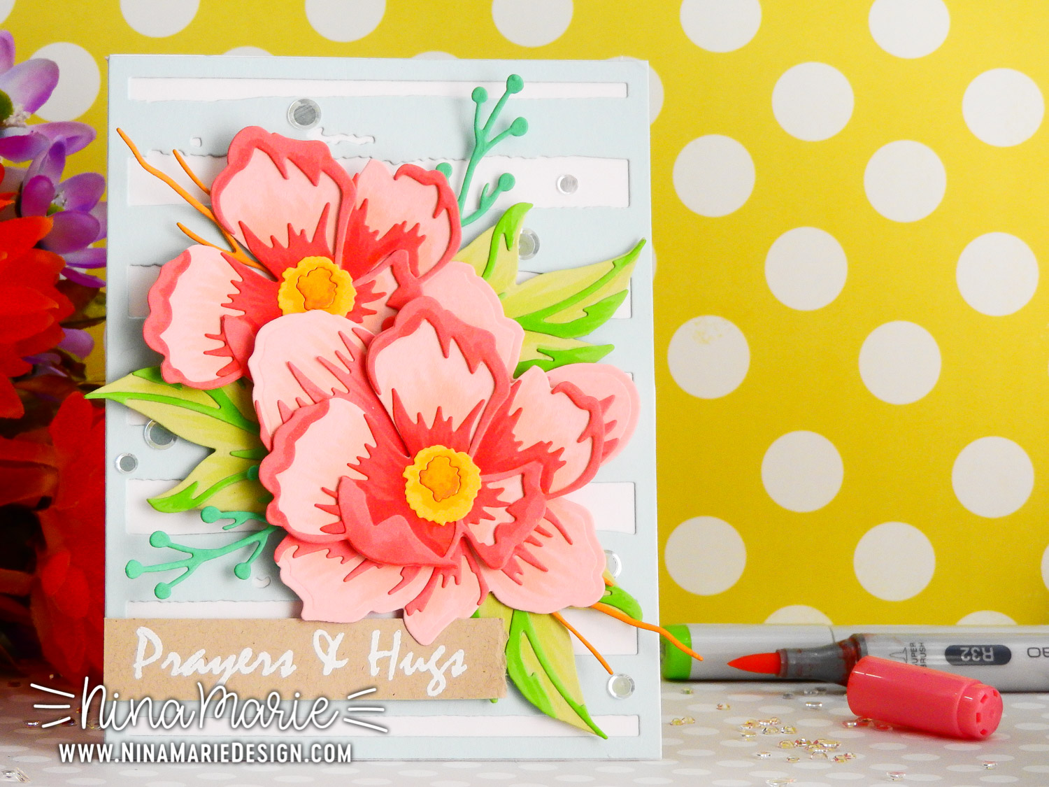 Layered Die Cut Flower Arrangement + Altenew's January Release