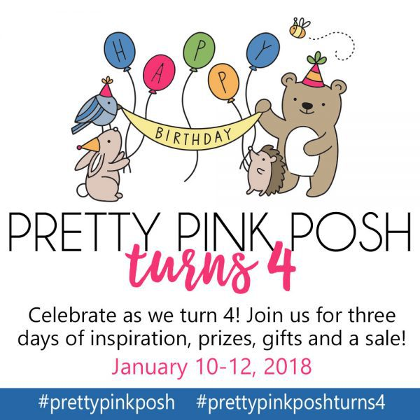 Watercoloring + 3 Ideas Cards + Pretty Pink Posh 4th Birthday Hop!