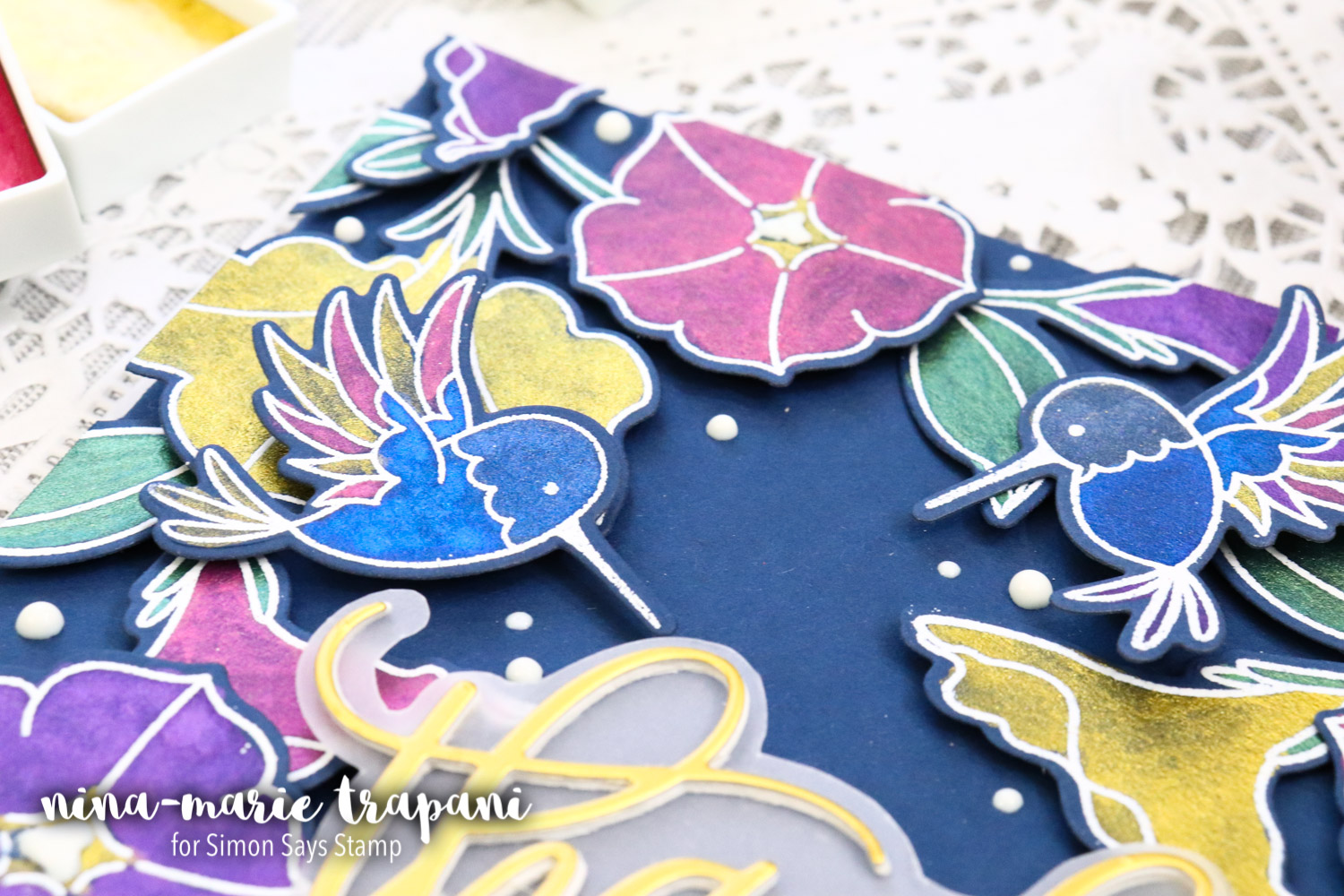 Studio Monday with Nina-Marie: Zig Gem Watercolors on Dark Cardstock