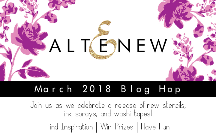 Altered Stenciling + Altenew Release Blog Hop
