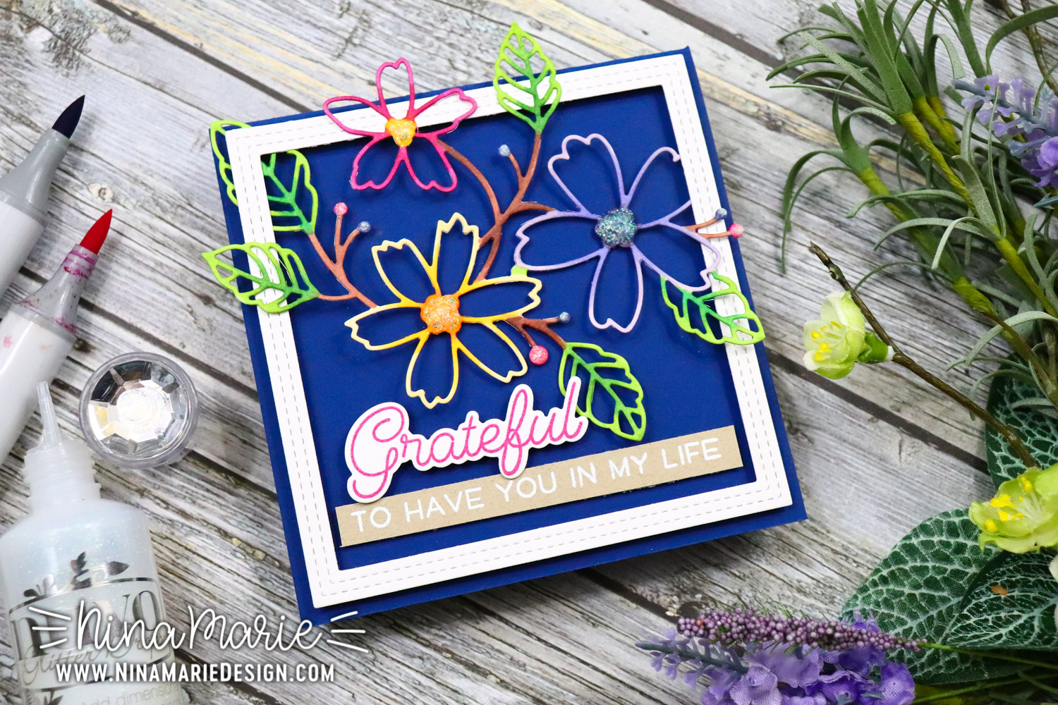 Coloring Die Cuts with Memory Box Dies