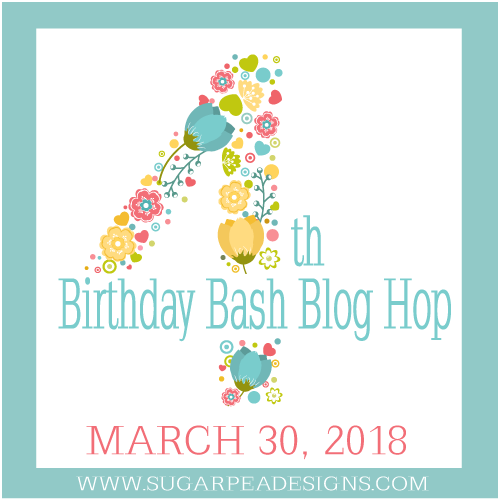 Clean & Simple with Copic Markers + Sugar Pea Designs 4th Birthday Hop