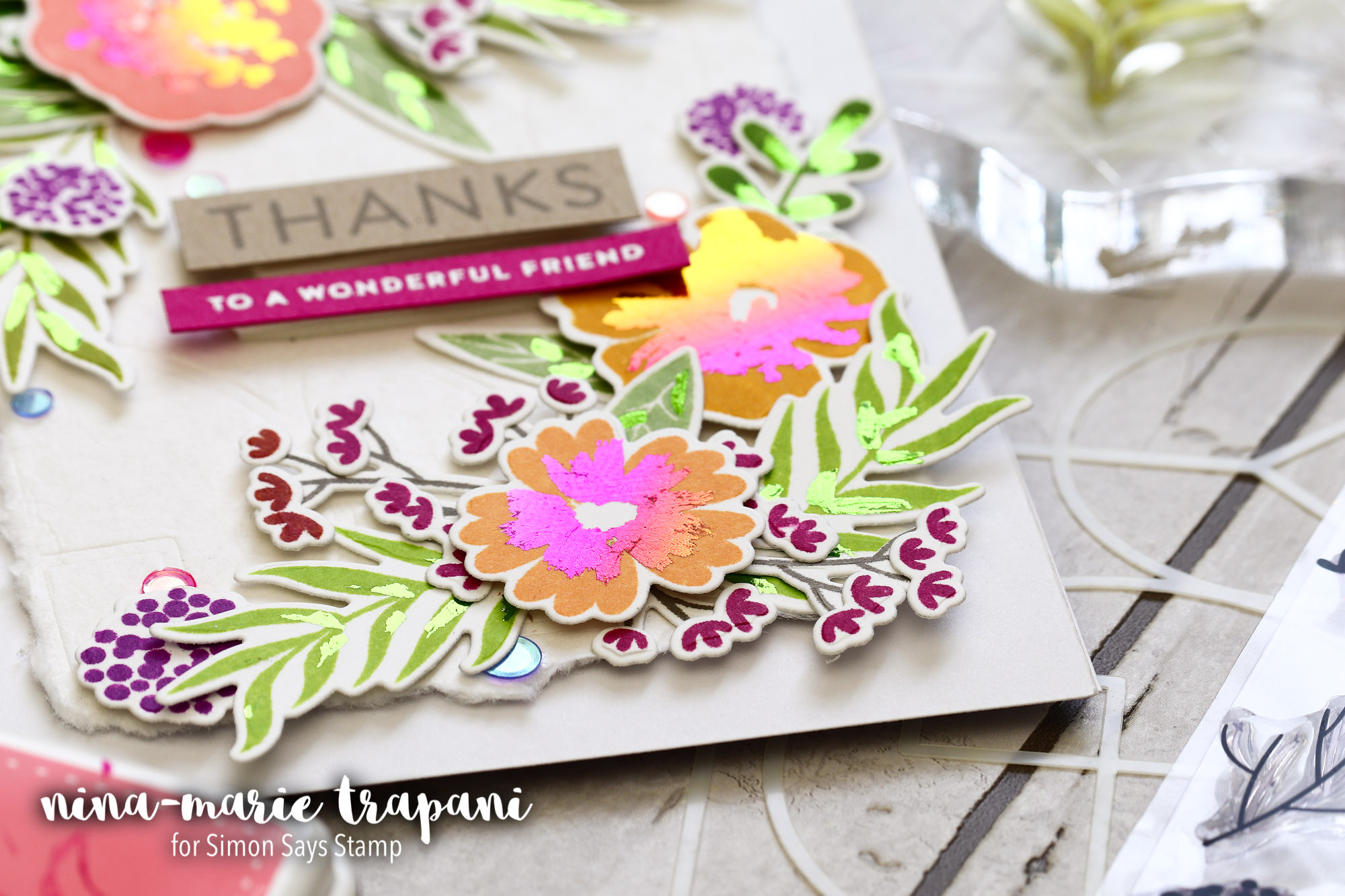Foiled Accents on Stamped Images + Simon Release Blog Hop