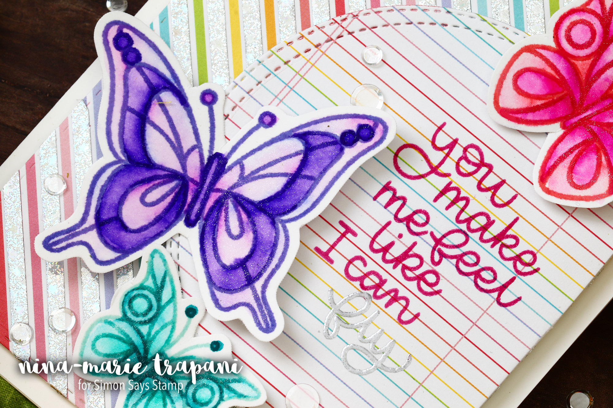 Foiling with Tape + Simon's Beautiful Day April 2018 Card Kit