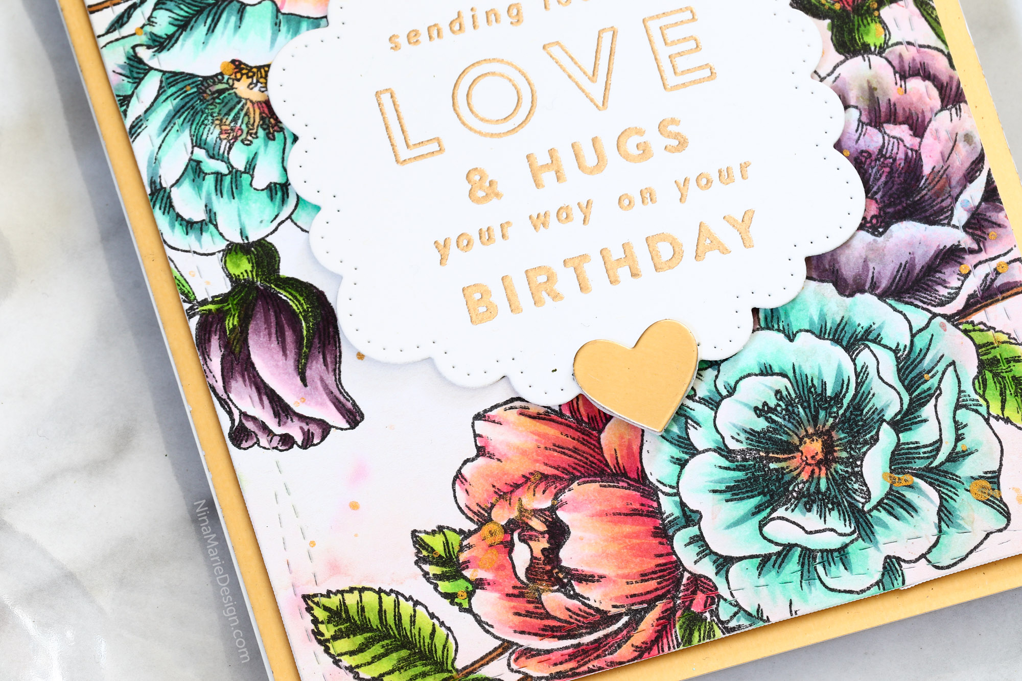 Coloring on Patterned Paper + Simon's June 2018 Card Kit
