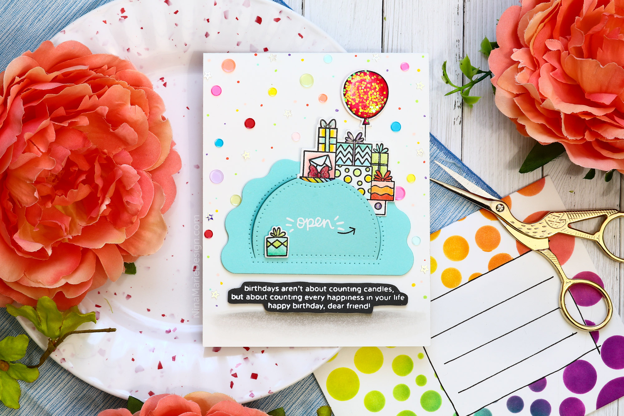 Hidden Sentiment Reveal Card + Studio Katia 2nd Birthday Hop!