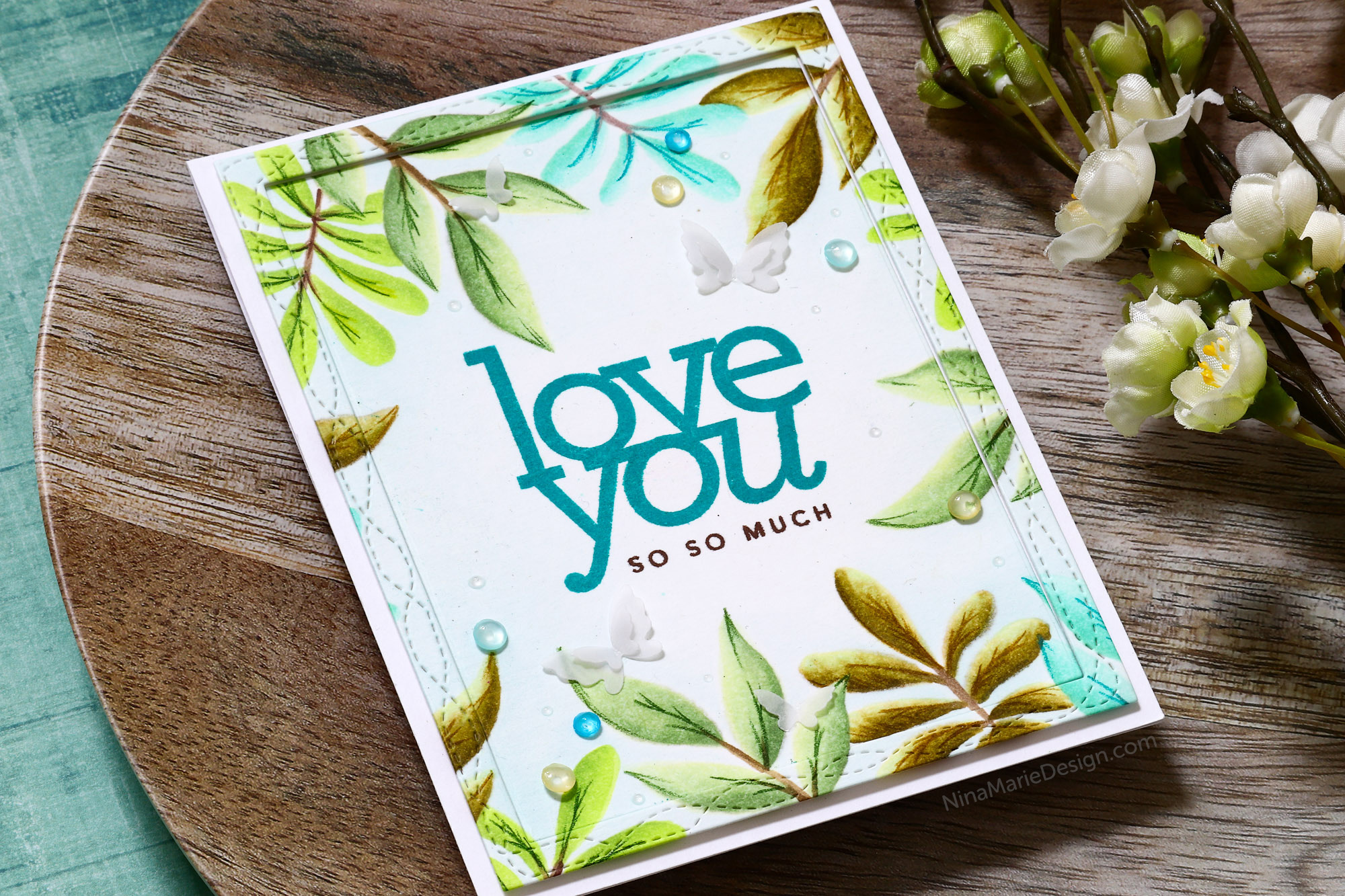 2 Ways to Use a Stencil + Simon's Sending Sunshine Blog Hop!