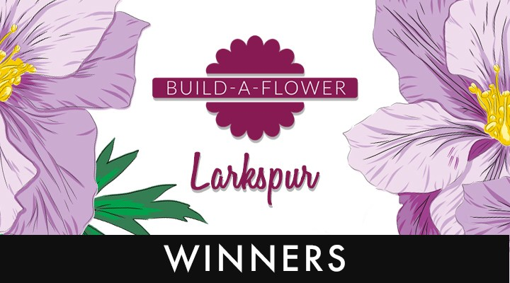 Altenew Build-A-Flower Larkspur Winners