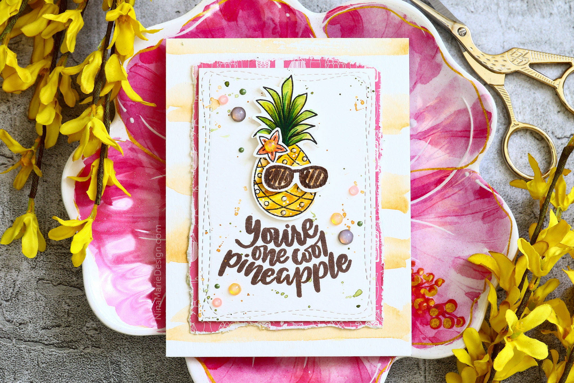 2 Ways to Use Simon's Cool Summer July Card Kit