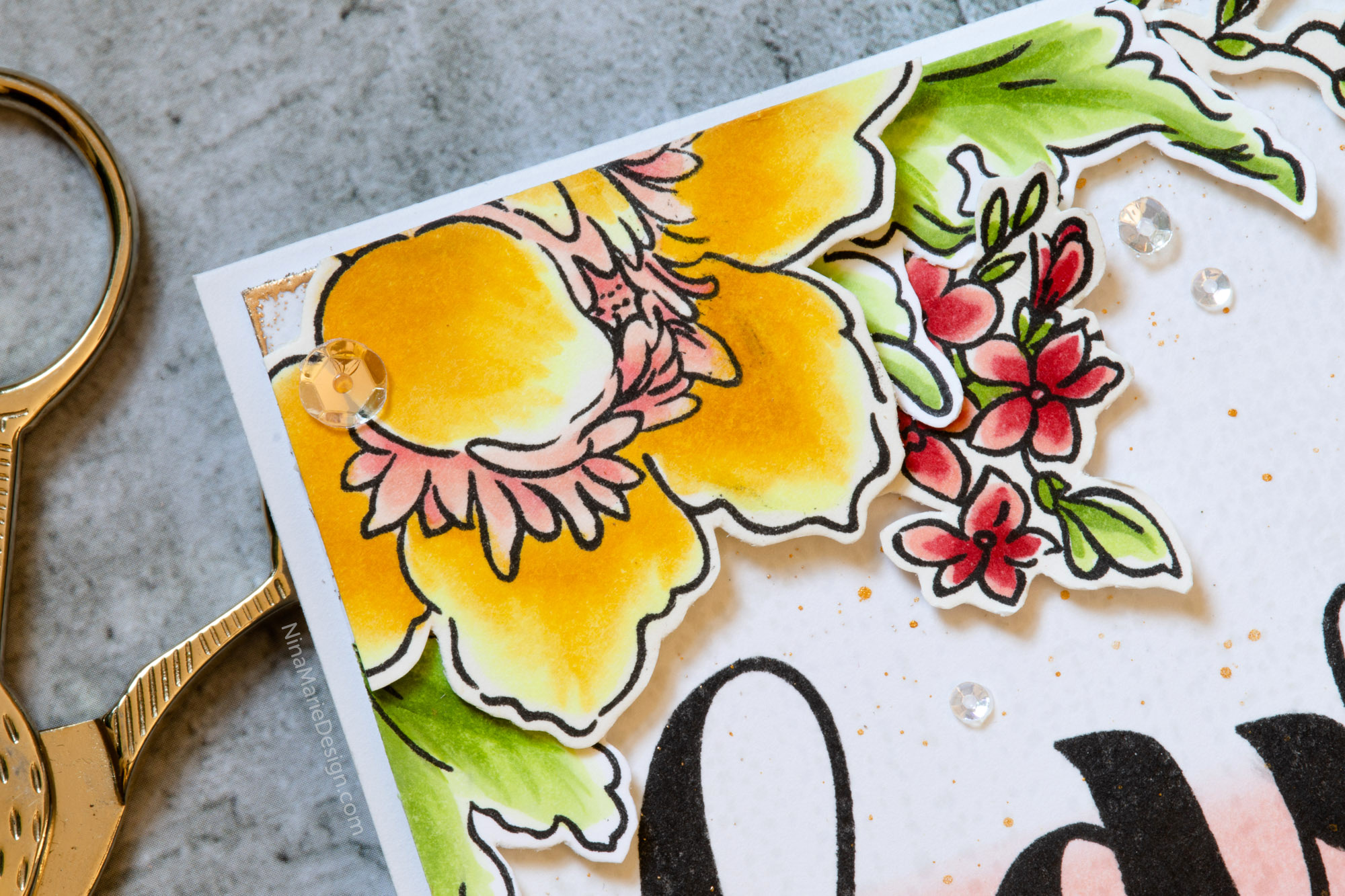 Dip-Dye & Flower Marker Coloring + Altenew Color Therapy Blog Hop