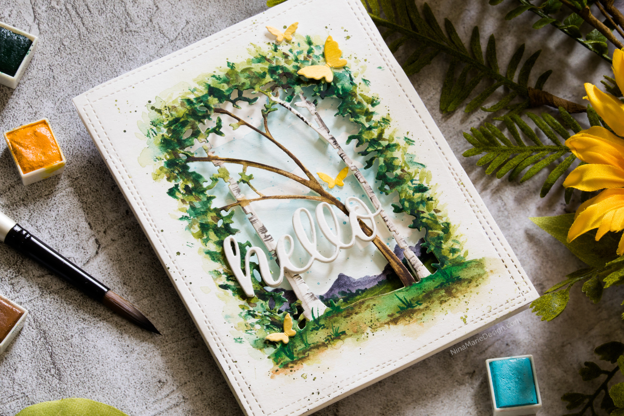 Diorama Watercolor Scene + Memory Box