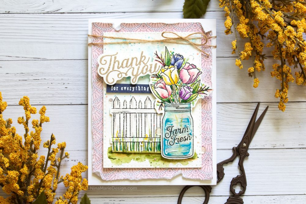 Watercoloring with Simon's August 2018 Card Kit-1