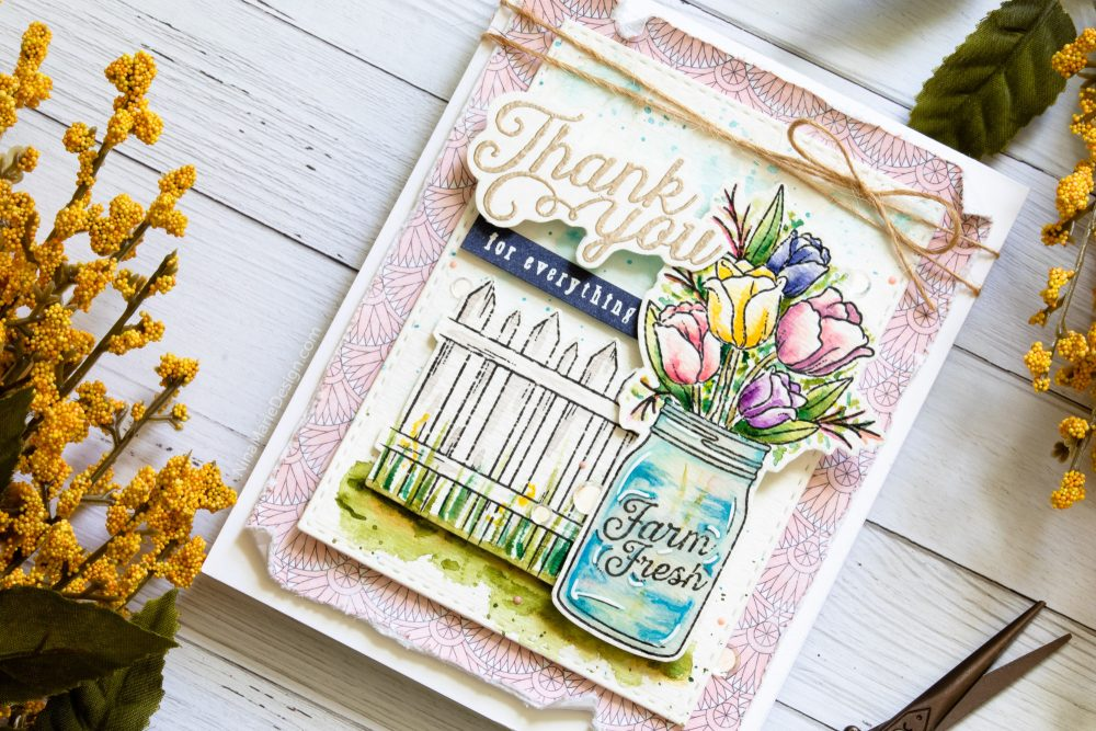 Watercoloring with Simon's August 2018 Card Kit-2