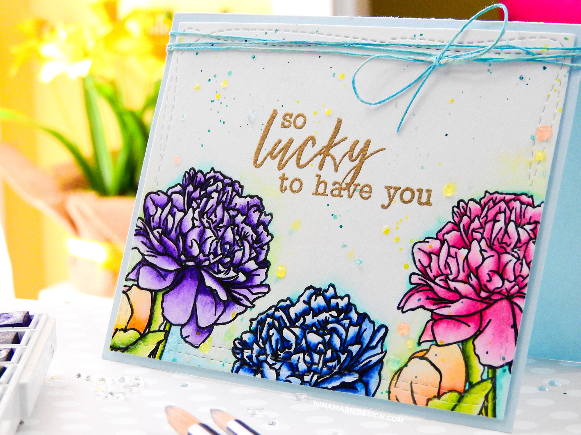 Gatefold Watercolor Floral Card + Altenew's Watercolor Release
