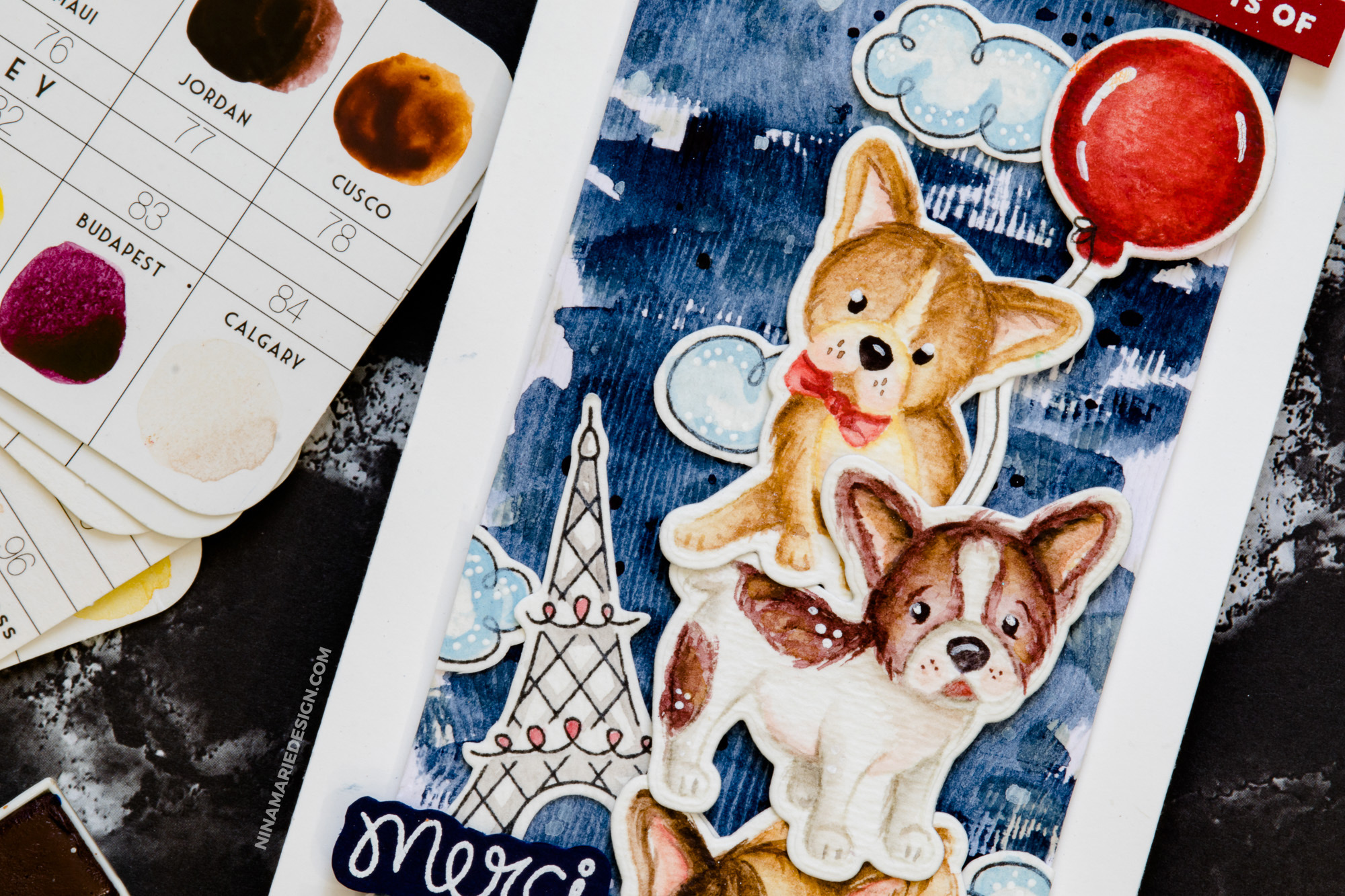 Detail Watercolor: Coloring Fur + Newton's Nook Designs