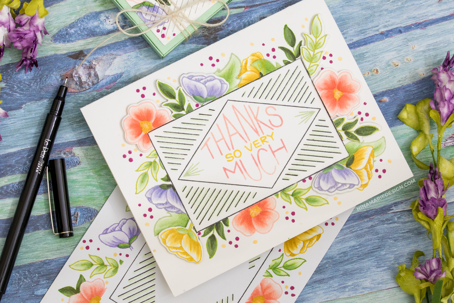 Faux No Line Coloring + A Card & Gift Set + Neat & Tangled's Birthday!