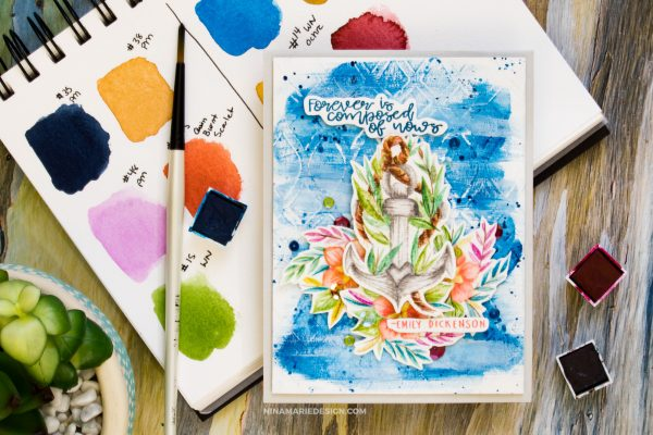 No Line Watercolor Spellbinders Indie Collection