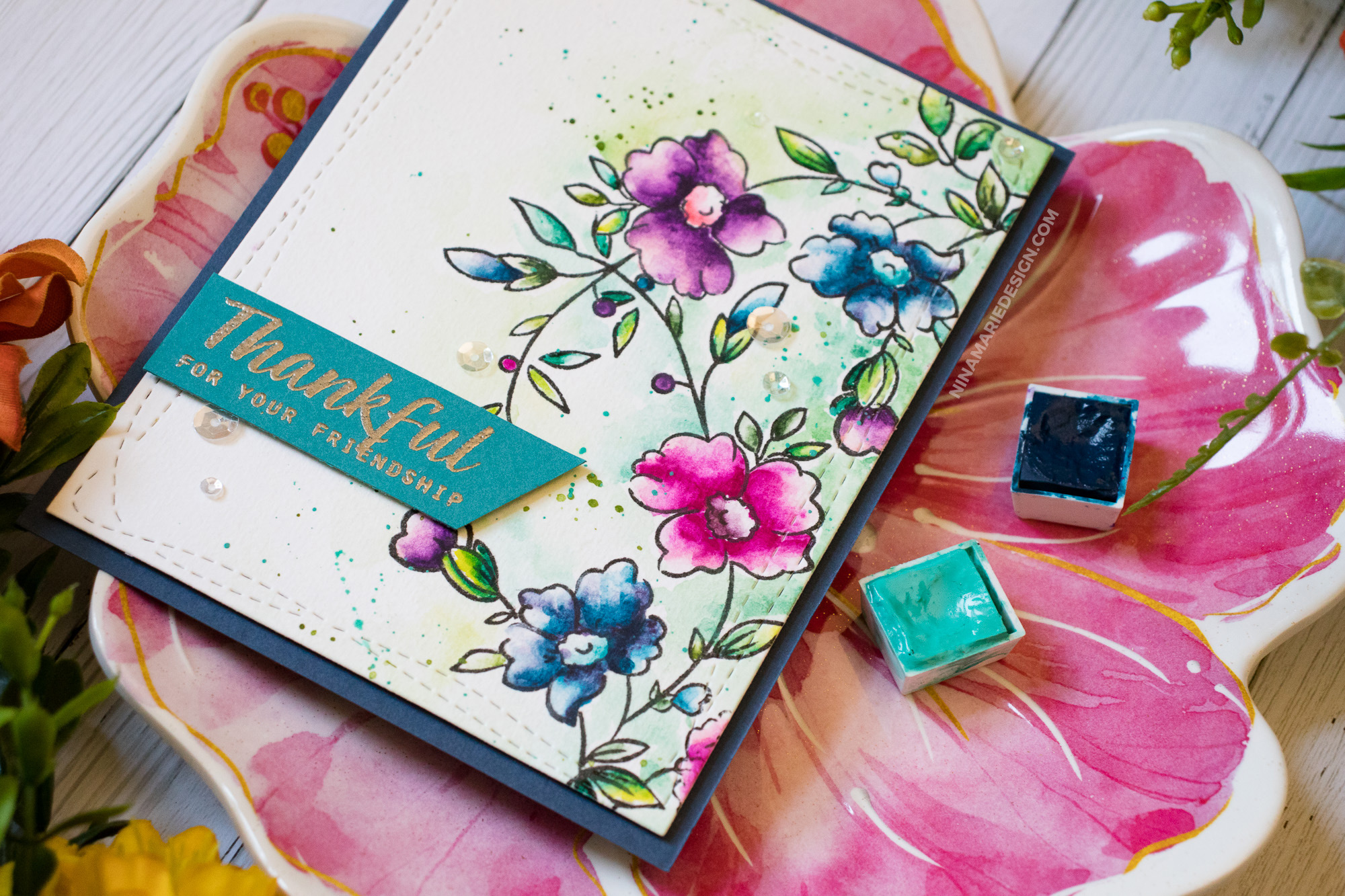 Alcohol Inks, Colored Pencils & Watercolor: 3 Ways to Use Simon's Altenew STAMPtember® Exclusive