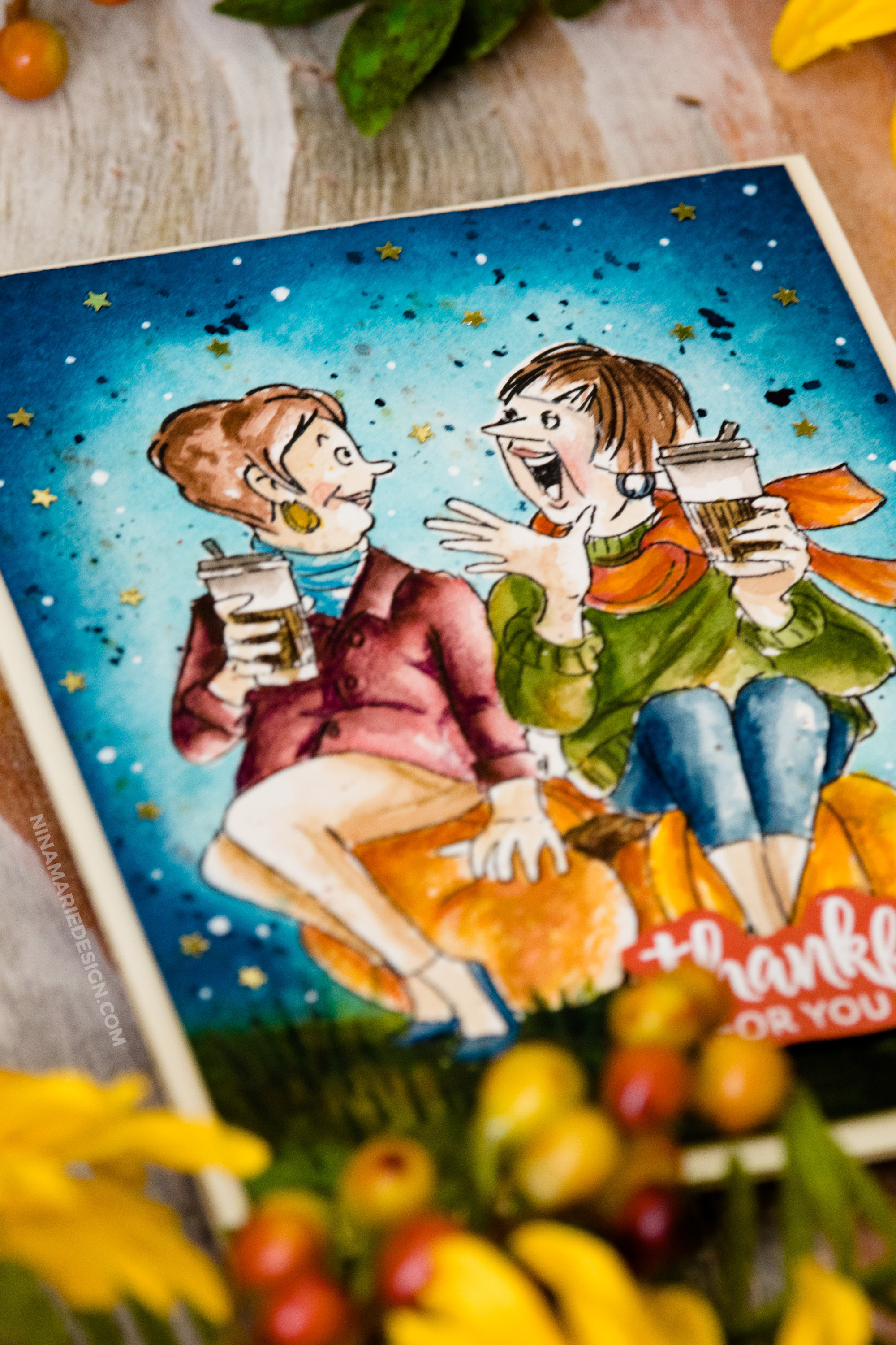 Mixed Media Coloring + Simon's STAMPtember® Exclusive with Art Impressions