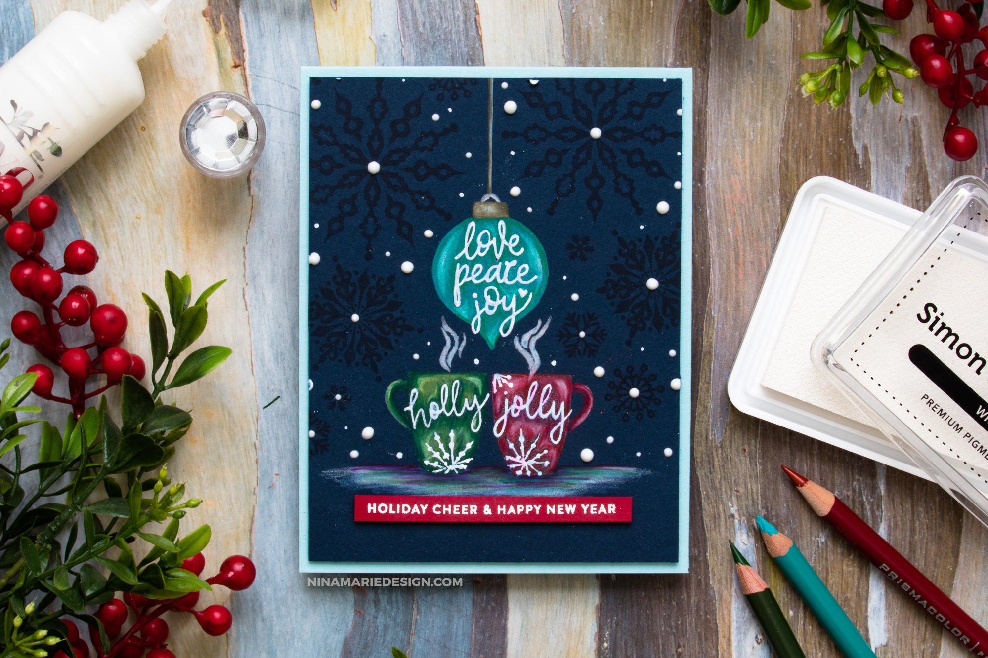 Coloring with Pencils on Navy + Simon\'s Gina K. Designs STAMPtember ...