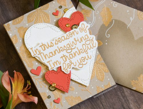 Coordinating Card & Envelope + Simon's Thanks & Leaves Card Kit