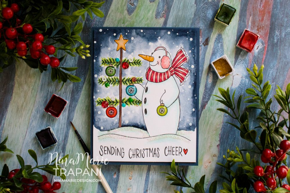 Fun to Color Christmas Card-1